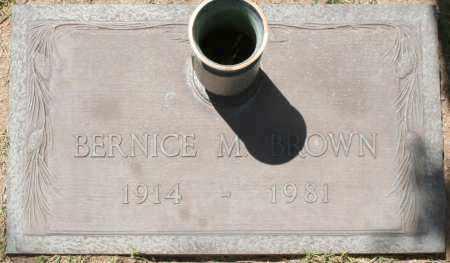 BROWN, BERNICE M. - Maricopa County, Arizona | BERNICE M. BROWN - Arizona Gravestone Photos