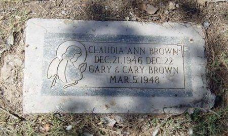 BROWN, CLAUDIA ANN - Maricopa County, Arizona   CLAUDIA ANN BROWN - Arizona Gravestone Photos
