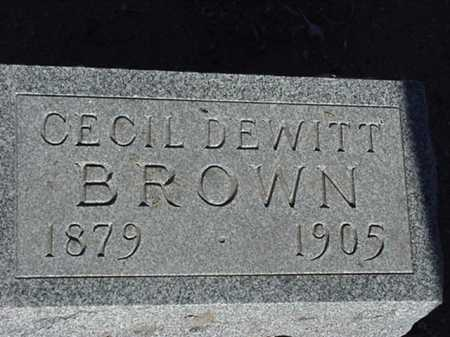 BROWN, CECIL DEWITT - Maricopa County, Arizona | CECIL DEWITT BROWN - Arizona Gravestone Photos