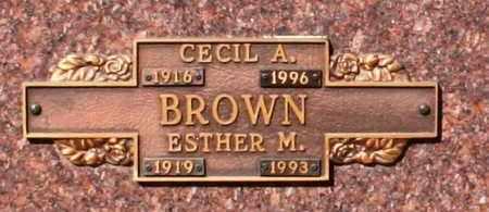 BROWN, ESTHER M - Maricopa County, Arizona   ESTHER M BROWN - Arizona Gravestone Photos