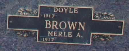 BROWN, MERLE A - Maricopa County, Arizona | MERLE A BROWN - Arizona Gravestone Photos