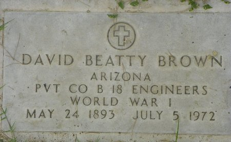 BROWN, DAVID BEATTY - Maricopa County, Arizona | DAVID BEATTY BROWN - Arizona Gravestone Photos