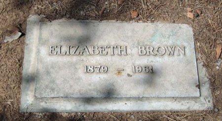 BROWN, ELIZABETH - Maricopa County, Arizona   ELIZABETH BROWN - Arizona Gravestone Photos