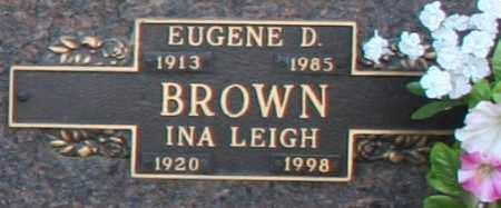 BROWN, EUGENE D - Maricopa County, Arizona | EUGENE D BROWN - Arizona Gravestone Photos