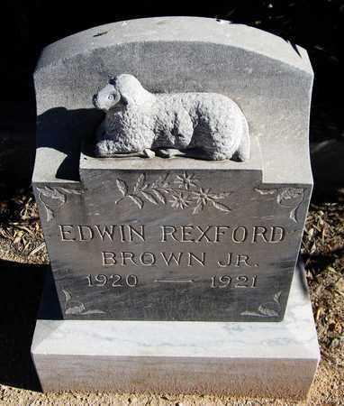 BROWN, EDWIN REXFORD, JR. - Maricopa County, Arizona | EDWIN REXFORD, JR. BROWN - Arizona Gravestone Photos