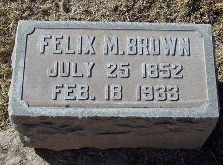 BROWN, FELIX M. - Maricopa County, Arizona | FELIX M. BROWN - Arizona Gravestone Photos