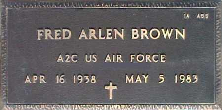 BROWN, FRED ARLEN - Maricopa County, Arizona | FRED ARLEN BROWN - Arizona Gravestone Photos