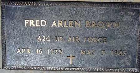 BROWN, FRED ARLEN - Maricopa County, Arizona | FRED ARLEN BROWN - Arizona Gravestone Photos