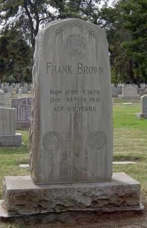 BROWN, FRANK - Maricopa County, Arizona   FRANK BROWN - Arizona Gravestone Photos