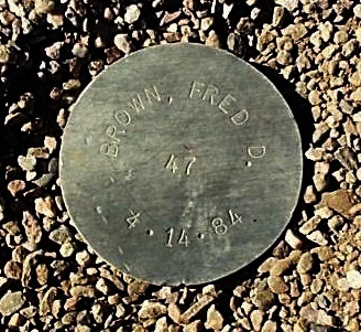 BROWN, FRED D. - Maricopa County, Arizona   FRED D. BROWN - Arizona Gravestone Photos