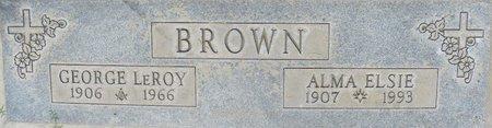 BROWN, GEORGE LEROY - Maricopa County, Arizona | GEORGE LEROY BROWN - Arizona Gravestone Photos