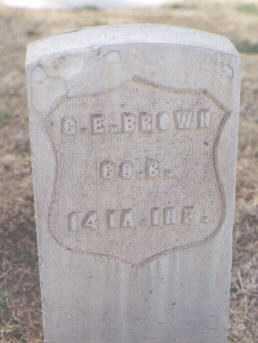 BROWN, G. E. - Maricopa County, Arizona   G. E. BROWN - Arizona Gravestone Photos