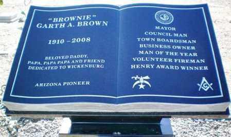BROWN, GARTH A. (BROWNIE) - Maricopa County, Arizona   GARTH A. (BROWNIE) BROWN - Arizona Gravestone Photos