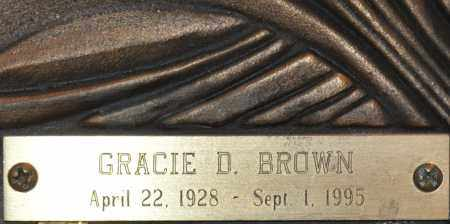 BROWN, GRACIE D. - Maricopa County, Arizona | GRACIE D. BROWN - Arizona Gravestone Photos