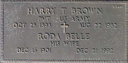 BROWN, RODA BELLE - Maricopa County, Arizona | RODA BELLE BROWN - Arizona Gravestone Photos