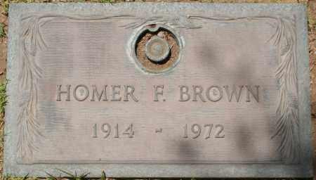 BROWN, HOMER F. - Maricopa County, Arizona | HOMER F. BROWN - Arizona Gravestone Photos