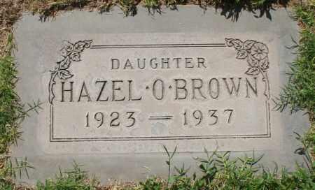 BROWN, HAZEL O. - Maricopa County, Arizona | HAZEL O. BROWN - Arizona Gravestone Photos