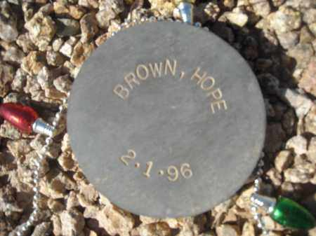 BROWN, HOPE - Maricopa County, Arizona   HOPE BROWN - Arizona Gravestone Photos