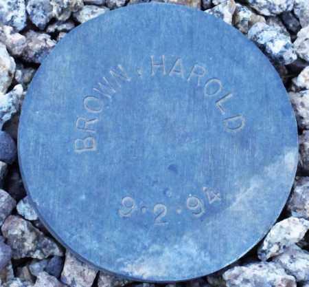 BROWN, HAROLD - Maricopa County, Arizona | HAROLD BROWN - Arizona Gravestone Photos