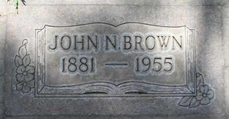 BROWN, JOHN N. - Maricopa County, Arizona | JOHN N. BROWN - Arizona Gravestone Photos