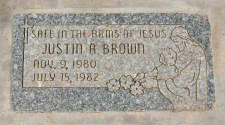 BROWN, JUSTIN A - Maricopa County, Arizona | JUSTIN A BROWN - Arizona Gravestone Photos