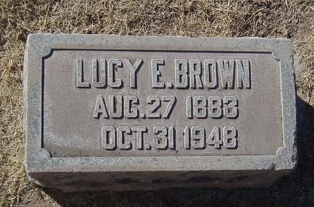 BROWN, LUCY E. - Maricopa County, Arizona | LUCY E. BROWN - Arizona Gravestone Photos