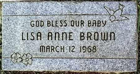 BROWN, LISA ANNE - Maricopa County, Arizona | LISA ANNE BROWN - Arizona Gravestone Photos