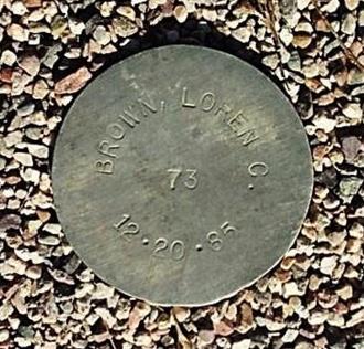 BROWN, LOREN C. - Maricopa County, Arizona   LOREN C. BROWN - Arizona Gravestone Photos