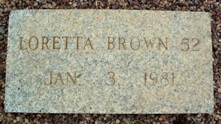 BROWN, LORETTA - Maricopa County, Arizona | LORETTA BROWN - Arizona Gravestone Photos