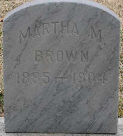 BROWN, MARTHA M. - Maricopa County, Arizona | MARTHA M. BROWN - Arizona Gravestone Photos