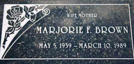 BROWN, MARJORIE F. - Maricopa County, Arizona | MARJORIE F. BROWN - Arizona Gravestone Photos