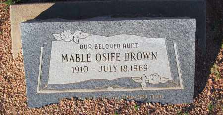 OSIFE BROWN, MABLE - Maricopa County, Arizona | MABLE OSIFE BROWN - Arizona Gravestone Photos