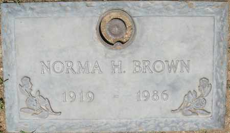 BROWN, NORMA H. - Maricopa County, Arizona   NORMA H. BROWN - Arizona Gravestone Photos