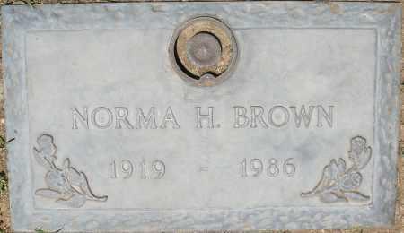 BROWN, NORMA H. - Maricopa County, Arizona | NORMA H. BROWN - Arizona Gravestone Photos
