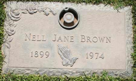 BROWN, NELL JANE - Maricopa County, Arizona | NELL JANE BROWN - Arizona Gravestone Photos