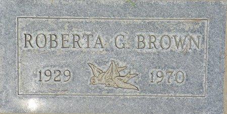 BROWN, ROBERTA G - Maricopa County, Arizona | ROBERTA G BROWN - Arizona Gravestone Photos