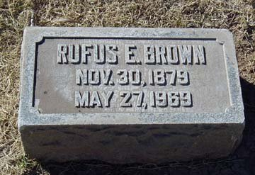 BROWN, RUFUS ELMER - Maricopa County, Arizona | RUFUS ELMER BROWN - Arizona Gravestone Photos