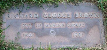 BROWN, RICHARD GEORGE - Maricopa County, Arizona | RICHARD GEORGE BROWN - Arizona Gravestone Photos