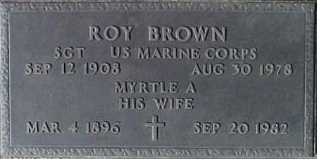 BROWN, ROY - Maricopa County, Arizona   ROY BROWN - Arizona Gravestone Photos