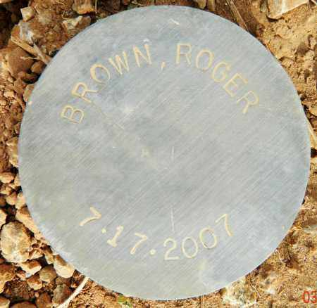 BROWN, ROGER - Maricopa County, Arizona | ROGER BROWN - Arizona Gravestone Photos