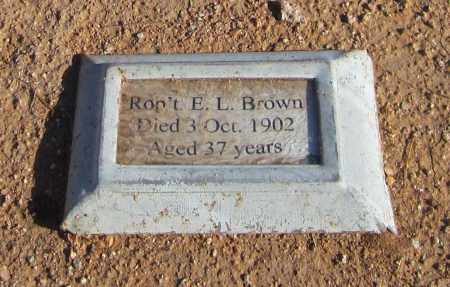 BROWN, ROBERT E. L. - Maricopa County, Arizona | ROBERT E. L. BROWN - Arizona Gravestone Photos