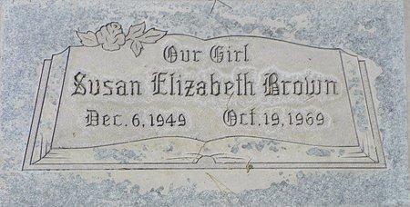 BROWN, SUSAN ELIZABETH - Maricopa County, Arizona | SUSAN ELIZABETH BROWN - Arizona Gravestone Photos