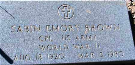 BROWN, SABIN EMORY - Maricopa County, Arizona | SABIN EMORY BROWN - Arizona Gravestone Photos