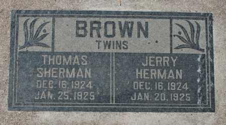 BROWN, JERRY HERMAN (TWIN) - Maricopa County, Arizona | JERRY HERMAN (TWIN) BROWN - Arizona Gravestone Photos