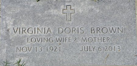 BROWN, VIRGINIA DORIS - Maricopa County, Arizona | VIRGINIA DORIS BROWN - Arizona Gravestone Photos