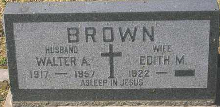 BROWN, WALTER A. - Maricopa County, Arizona | WALTER A. BROWN - Arizona Gravestone Photos