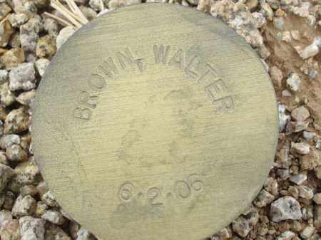 BROWN, WALTER - Maricopa County, Arizona | WALTER BROWN - Arizona Gravestone Photos