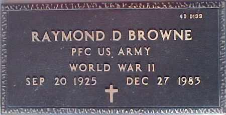BROWNE, RAYMOND D. - Maricopa County, Arizona | RAYMOND D. BROWNE - Arizona Gravestone Photos