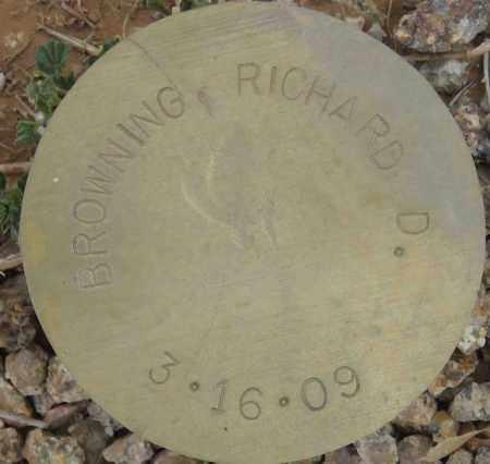 BROWNING, RICHARD D. - Maricopa County, Arizona | RICHARD D. BROWNING - Arizona Gravestone Photos