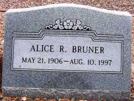 BRUNER, ALICE R. - Maricopa County, Arizona   ALICE R. BRUNER - Arizona Gravestone Photos